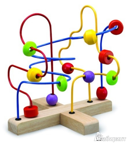 Иллюстрация 1 из 2 для Игрушка развивающая. Лабиринт с бусинами (ВВ-2009) | Лабиринт - игрушки. Источник: Лабиринт