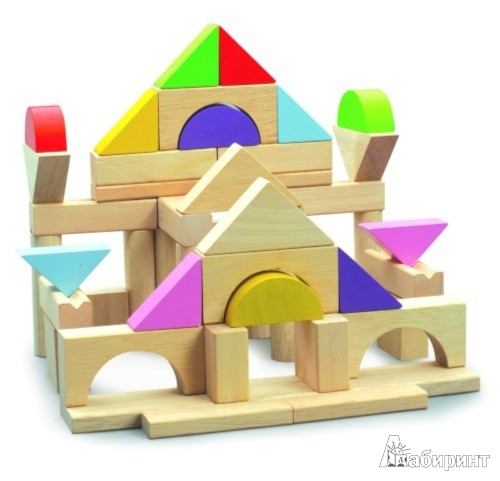 Иллюстрация 1 из 2 для Набор кубиков разной формы 50 штук (ВВ-2505) | Лабиринт - игрушки. Источник: Лабиринт