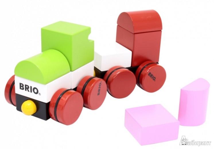 Иллюстрация 1 из 5 для Конструктор из кубиков на магнитах, поезд (30134) | Лабиринт - игрушки. Источник: Лабиринт