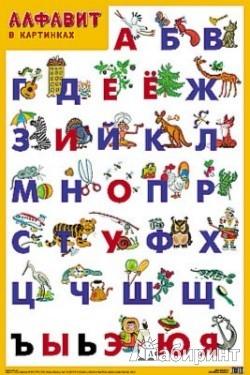 """Иллюстрация 1 из 3 для Плакат """"Алфавит""""   Лабиринт - книги. Источник: Лабиринт"""