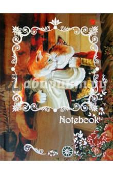 Книга для записей 80 листов Романтика (кошки) А6 (КЗФ6801279) записные книжки канц эксмо книга для записей с поролоном 80 листов орнамент разноцветные зонтики