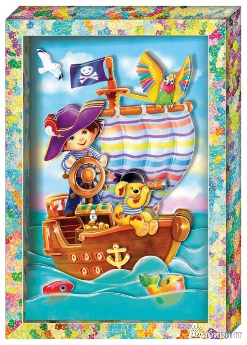 """Иллюстрация 1 из 8 для Набор для изготовления картины """"Пират"""" (АБ 21-123)   Лабиринт - игрушки. Источник: Лабиринт"""
