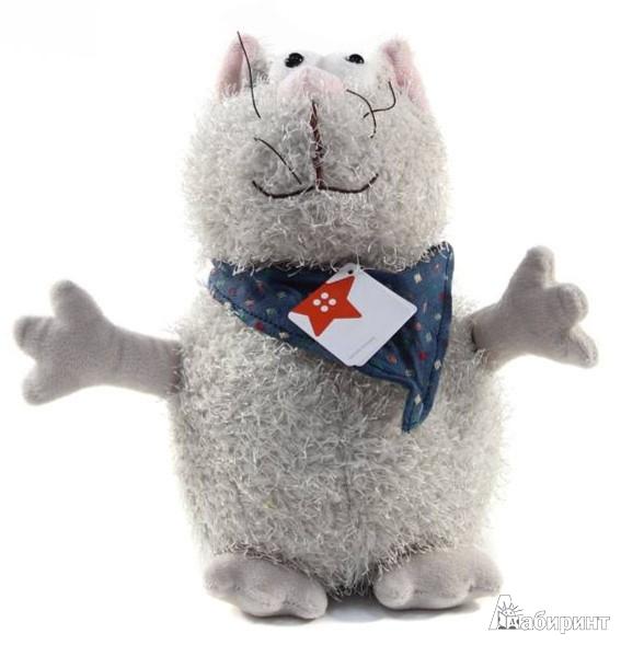 Иллюстрация 1 из 4 для Мягкая игрушка Кот в бандане 23 см (К82010D) | Лабиринт - игрушки. Источник: Лабиринт