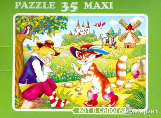 """Иллюстрация 1 из 4 для Пазл MAXI 35 """"Кот в сапогах"""" (К-3501)   Лабиринт - игрушки. Источник: Лабиринт"""