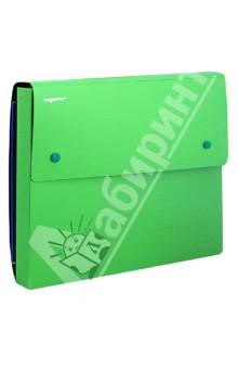 Папка-конверт на 2-х кнопках. DISCOVERY. Цвет: зеленый (255037-03)