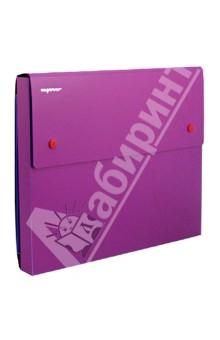 Папка-конверт на 2-х кнопках DISCOVERY. Цвет: фуксия (255037-25)