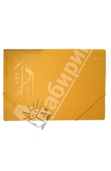 Папка-конверт на резинке. DISCOVERY. Цвет: охра (255044-26)