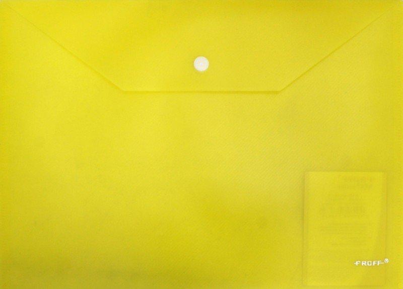 Иллюстрация 1 из 15 для Папка-конверт A4 с кнопкой, желтая (28-2122)   Лабиринт - канцтовы. Источник: Лабиринт