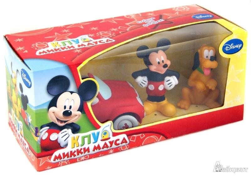Иллюстрация 1 из 3 для Disney. Клуб Микки Мауса. Игровой набор: машинка, Микки и Плуто (Т55647)   Лабиринт - игрушки. Источник: Лабиринт
