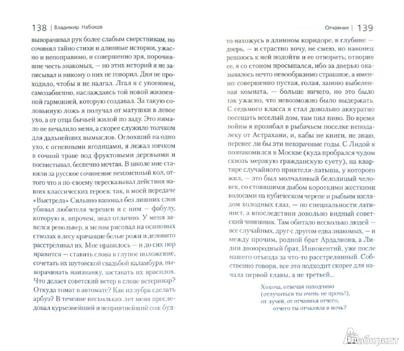 Иллюстрация 1 из 8 для Соглядатай. Отчаяние - Владимир Набоков | Лабиринт - книги. Источник: Лабиринт