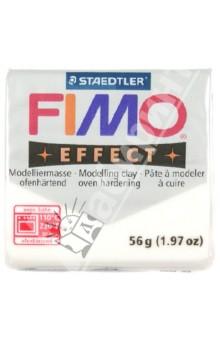 FIMO Effect полимерная глина, 56 гр., цвет прозрачный (8020-014) глина для моделирования fimo soft цвет прозрачный 56 г