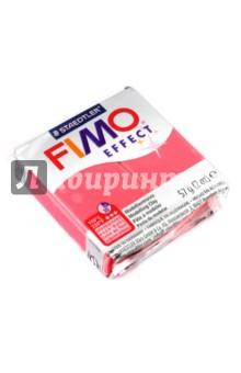 Полимерная глина FIMO Effect (56 гр., цвет полупрозрачный красный) (8020-204) глина для моделирования fimo soft цвет прозрачный 56 г