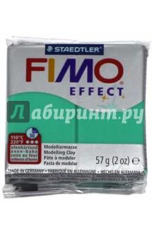 FIMO Effect полимерная глина, 57 гр., цвет полупрозрачный зелёный (8020-504) fimo 2