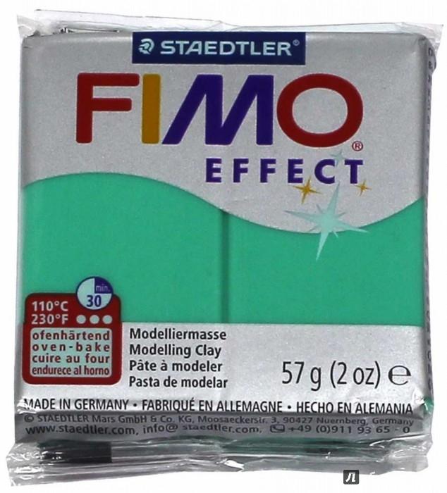 Иллюстрация 1 из 5 для FIMO Effect полимерная глина, 57 гр., цвет полупрозрачный зелёный (8020-504) | Лабиринт - игрушки. Источник: Лабиринт