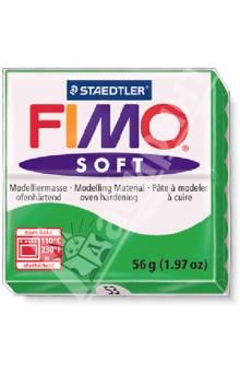 Полимерная глина FIMO Soft (56 гр., цвет тропический зеленый) (8020-53) idigo полимерная глина для запекания 58гр цв зеленый неон sm55811