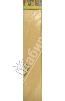 Бумага желтая перламутровая крепированная (28594/10)
