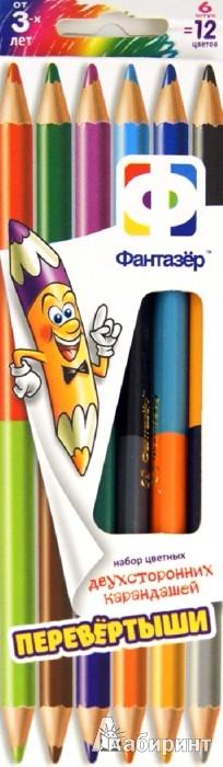 """Иллюстрация 1 из 8 для Карандаши 12 цветов двусторонние """"Jumbo"""" 6 штук (710008)   Лабиринт - канцтовы. Источник: Лабиринт"""