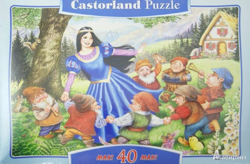 """Иллюстрация 1 из 2 для Puzzle-40 MAXI """"Белоснежка и 7 гномов"""" (В-040049)   Лабиринт - игрушки. Источник: Лабиринт"""