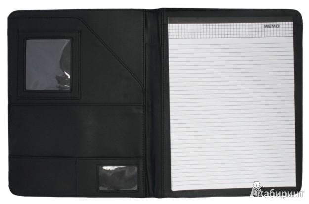 Иллюстрация 1 из 3 для Папка адресная из искусственной кожи черного цвета (PLF0352)   Лабиринт - канцтовы. Источник: Лабиринт