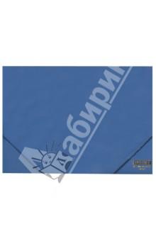 Папка A4 с резинкой, непрозрачная, синяя (DC202-04)