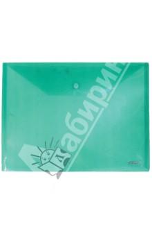 Папка-конверт A4 с кнопкой, зеленая (CH309TW-03)