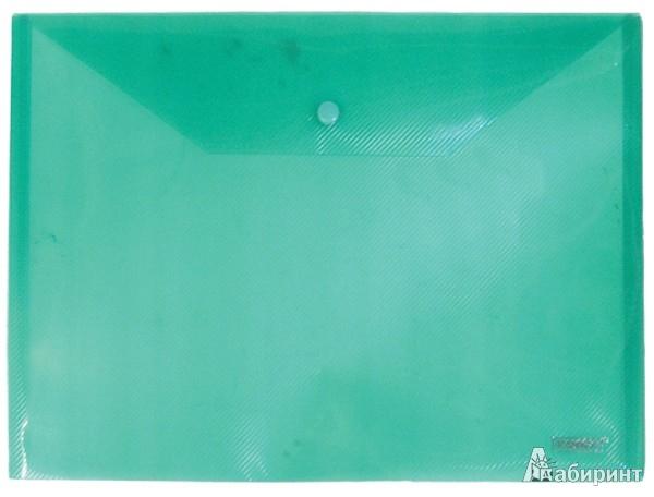 Иллюстрация 1 из 14 для Папка-конверт A4 с кнопкой, зеленая (CH309TW-03) | Лабиринт - канцтовы. Источник: Лабиринт