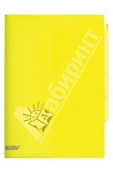 Папка-уголок A4, с 3 отделениями, желтая (CH410-TF-02)