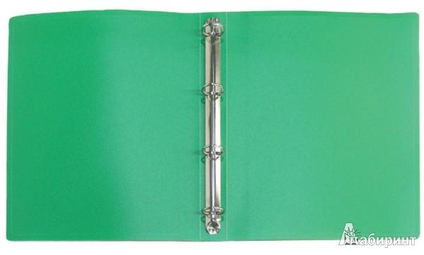 Иллюстрация 1 из 3 для Папка A4 4 кольца зеленая (RB 25-4-03) | Лабиринт - канцтовы. Источник: Лабиринт
