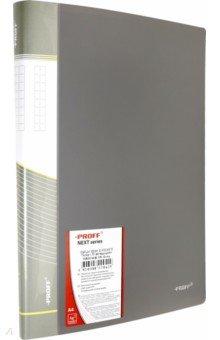Папка A4 с 30 вкладышами, серая (DB30AB-05) папка с приж пласт proff next а4 0 60мм с торц и внутр карм синяя