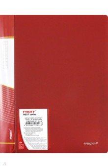Папка A4 с 40 вкладышами, красная (DB40AB-01) папка с приж пласт proff next а4 0 60мм с торц и внутр карм синяя