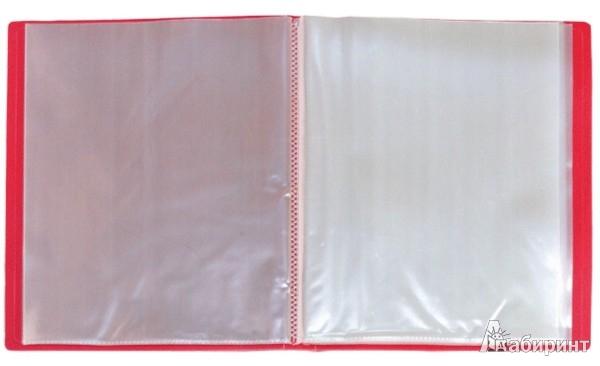 Иллюстрация 1 из 2 для Папка A4 с 40 вкладышами, красная (DB40AB-01) | Лабиринт - канцтовы. Источник: Лабиринт