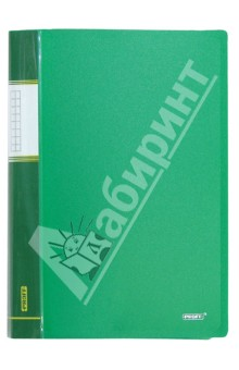 Папка A4 с 60 вкладышами, зеленая (DB60AB-03) папка с приж пласт proff next а4 0 60мм с торц и внутр карм синяя