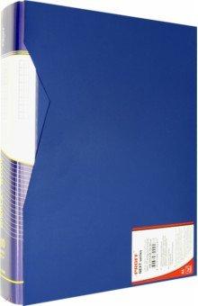 Папка со 100 вкладышами в пластиковом коробе, А4, синяя (DB100AB-04)