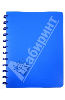 Папка на кольцах. 40 файлов. Цвет: синий (CY40MG-B).