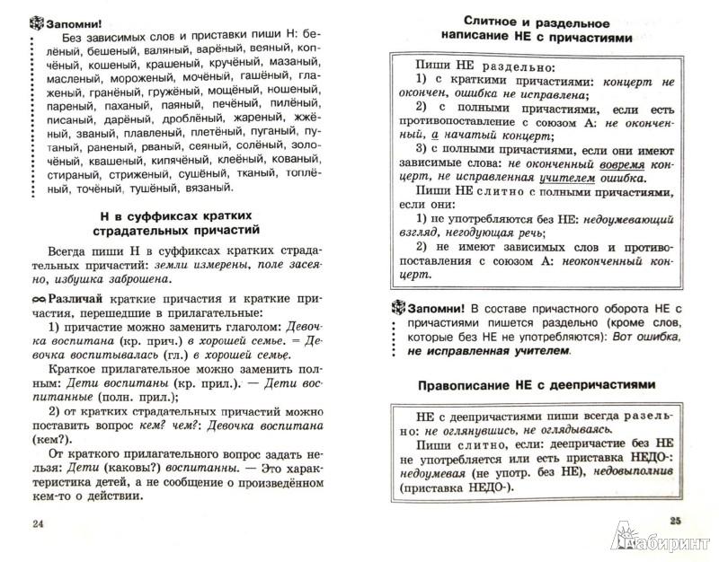 Русский язык 6 класс правила
