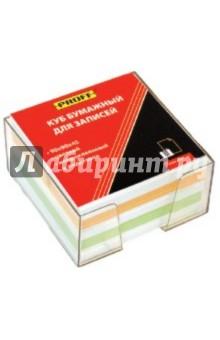 Куб бумажный для записей. 90х90х45 мм, цветной. С подставкой (М150-45цв ПБ PF)
