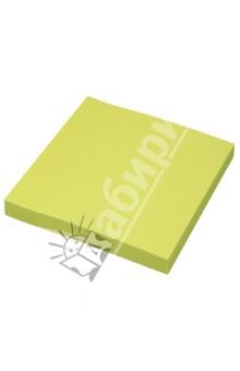 Клейкая бумага для заметок. 76х76 мм. Цвет: неоновый зеленый (PF-7676N-03)