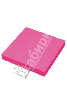 Клейкая бумага для заметок. 76х76 мм. Цвет: неоновый малиновый (PF-7676N-18)