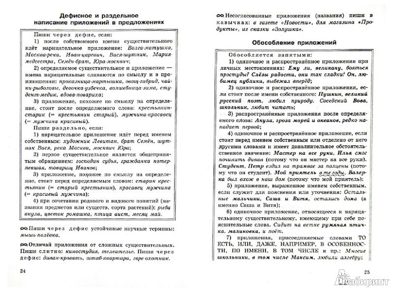 Русский язык 8 класс правила