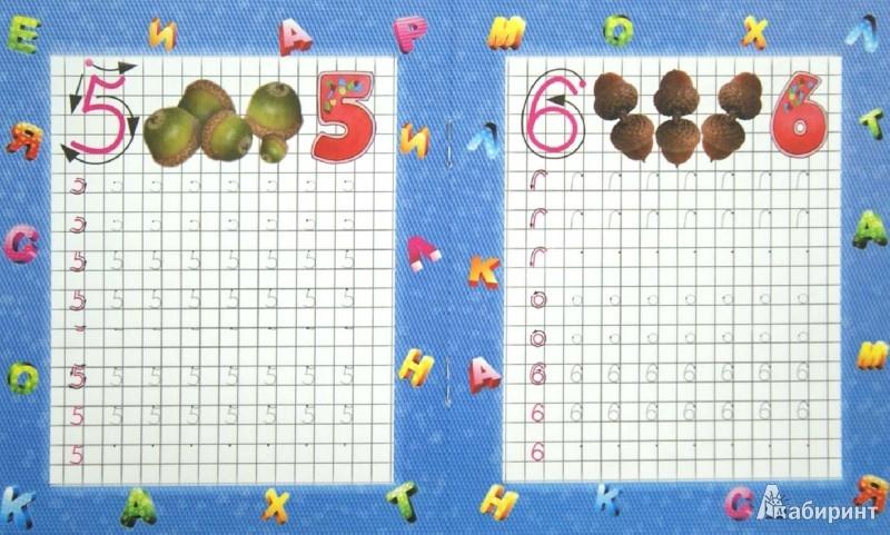 Иллюстрация 1 из 6 для Пишем цифры по клеточкам. Подготовка руки к письму | Лабиринт - книги. Источник: Лабиринт