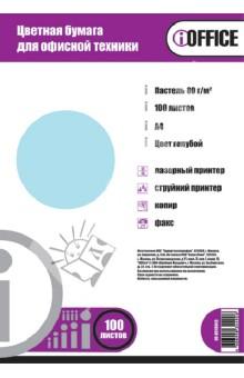 """Бумага цветная А4 """"iOffice"""" (100 листов, цвет: пастельный голубой) (IO-8010013)"""