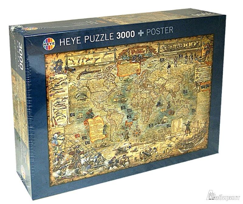 """Иллюстрация 1 из 12 для Puzzle-3000 """"Пиратская карта"""" (29526)   Лабиринт - игрушки. Источник: Лабиринт"""