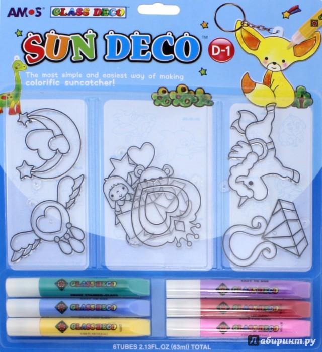 Иллюстрация 1 из 6 для Набор витражных красок с витражами, 6 цветов (22929) | Лабиринт - игрушки. Источник: Лабиринт