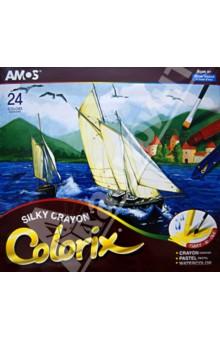 Мелки акварельные, 24 цвета (19840).