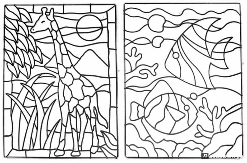 Иллюстрация 1 из 9 для Витражи-макси, 2 штуки (23868) | Лабиринт - игрушки. Источник: Лабиринт