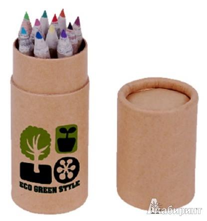 Иллюстрация 1 из 5 для Мини-набор цветных карандашей в тубусе. 12 штук (070056) | Лабиринт - канцтовы. Источник: Лабиринт