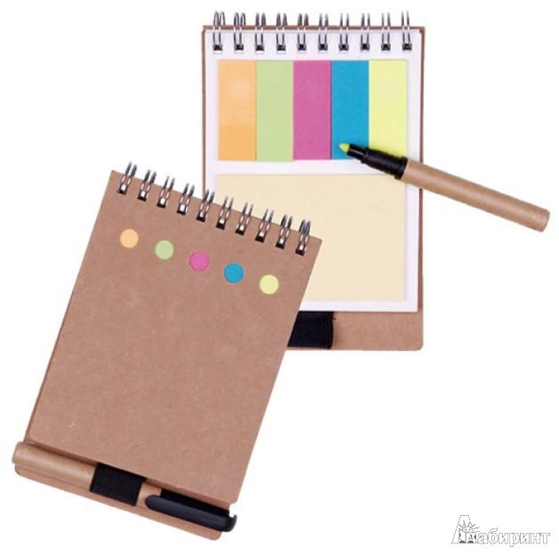 Иллюстрация 1 из 8 для Блокнот для заметок с ручкой и закладками, А6(070063) | Лабиринт - канцтовы. Источник: Лабиринт