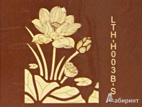 """Иллюстрация 1 из 2 для Набор для творчества. Декоративное панно из дерева """"Лотос"""" (LTH-H003B-S)   Лабиринт - игрушки. Источник: Лабиринт"""