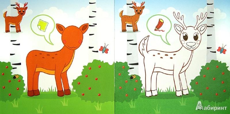 Иллюстрация 1 из 32 для Лесные зверюшки. Развивающая раскраска с наклейками | Лабиринт - книги. Источник: Лабиринт