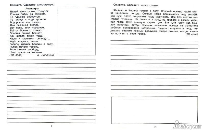 Тексты для списывания по русскому языку 3 класс